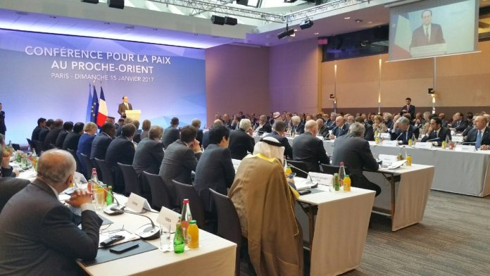 Pariser Konferenz: Viel Lärm um nichts. Foto Twitter / Harlem Désir