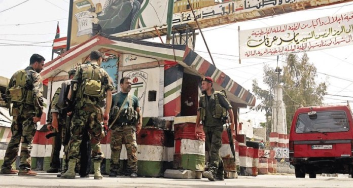 Der Eingang zu Ain al-Hilweh. Foto Twitter / Paltoday
