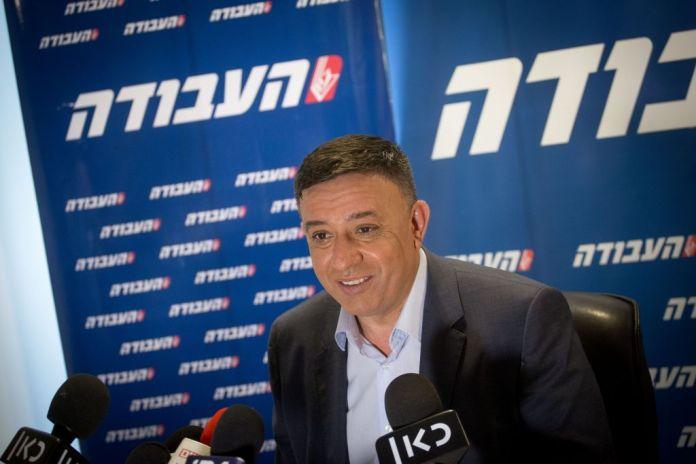 Avi Gabbay an der Pressekonferenz. Foto Miriam Alster/ FLASH90