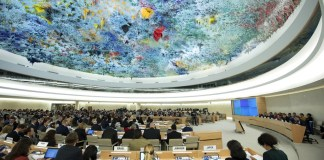 """Human Rights Council - Special Session o"" (CC BY-NC-ND 2.0) by UN Geneva. https://www.flickr.com/photos/unisgeneva/30380871831"