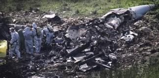 Die Überreste des F-16-Flugzeugs, das am 10. Februar 2018 in der Nähe des Kibbuz Harduf abstürzte. Foto Anat Hermony/Flash90