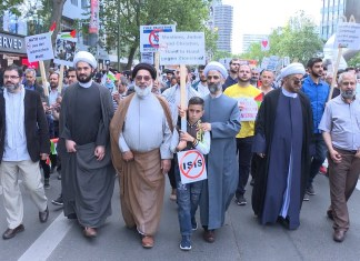 Foto Screenshot Youtube / Jüdisches Forum, Al-Quds-Demonstration in Berlin 2017.