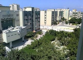 Luhaidan-Gebäude der Islamischen Universität von Gaza (2012). Foto Manar al Zraiy, CC BY-SA 3.0, https://commons.wikimedia.org/w/index.php?curid=20186874