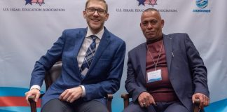 Avi Zimmerman und Ashraf Jabari. Foto Eitan Tal