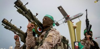 Hamas-Terroristen im südlichen Gazastreifen am 31. Januar 2017. Foto Abed Rahim Khatib/Flash90