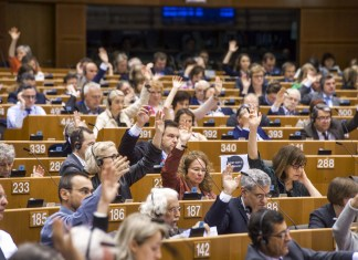 Symbolbild. Session im EU-Parlament. Foto © European Union 2019