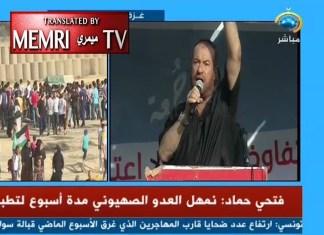 Fathi Ahmad Hamad ist politischer Führer der Hamas und Mitglied des Palästinensischen Legislativrates. Foto Screenshot Memri