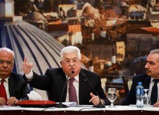 Der palästinensische Präsident Mahmoud Abbas am 28. Januar im Hauptquartier der Palästinensischen Autonomiebehörde in Ramallah. Foto Flash90