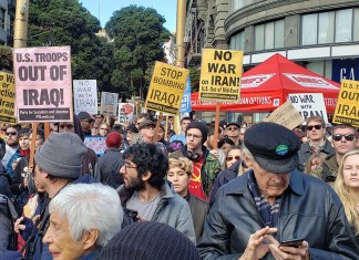 Antikriegsdemonstration in den USA. Foto ANSWER (Act Now to Stop War and End Racism)