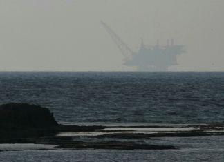 Offshore-Gasbohrinsel Leviathan im Mittelmeer, 130 Kilometer westlich von Haifa. Foto Ehud Amiton/TPS