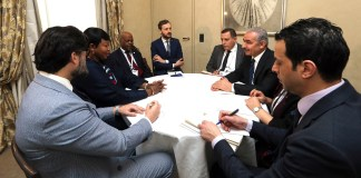 Treffen von PA-Premierminister Muhammad Shtayyeh mit Fatou Bensouda, das laut WAFA am 15. Februar 2020 stattgefunden hat. Foto Wafa / Government of Palestine