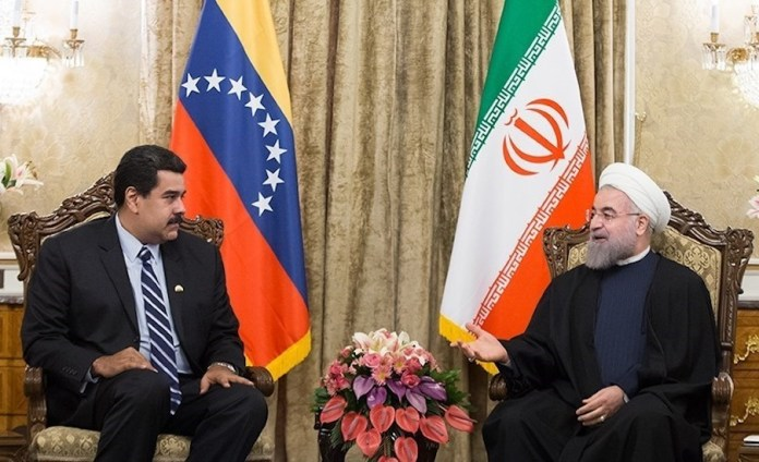 Treffen des venezolanischen Präsidenten Nicolas Maduro mit dem iranischen Obersten Führer Ayatollah Ali Khamenei im November 2016. Foto Tasnim News Agency, CC BY 4.0, https://commons.wikimedia.org/w/index.php?curid=47896521