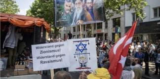 Qudstag-Marsch 2018 in Berlin. Foto Jüdisches Forum für Demokratie und gegen Antisemitismus e.V. (JFDA) www.jfda.de