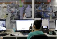 Coronavirus-Isolationsstation im medizinischen Zentrum Chaim Sheba. Foto Eitan Elhadez-Barak/TPS