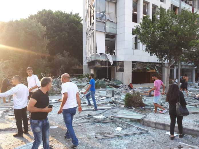Zerstörungen in der City von Beirut nach der Explosion vom 4. August 2020. Foto Freimut Bahlo, CC BY-SA 4.0, https://commons.wikimedia.org/w/index.php?curid=93185199