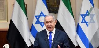 Premierminister Netanjahu spricht am 12. Oktober 2020 vor dem Kabinett, bevor es über den Friedensvertrag mit den VAE abstimmt. Foto GPO