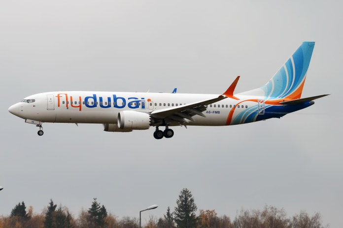 flydubai, A6-FMB, Boeing 737-8 MAX. Foto Anna Zvereva, CC BY-SA 2.0, https://commons.wikimedia.org/w/index.php?curid=74052302