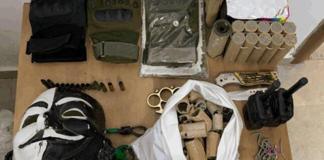 Einige der Waffen, die sich im Besitz der palästinensischen Minderjährigen befanden. Foto Israelische Sicherheitsbehörde