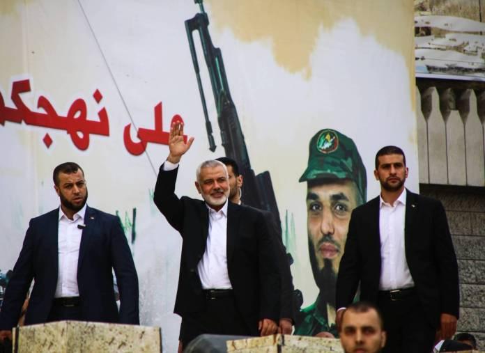 Der Leiter des Politbüros der Hamas, Ismail Haniyeh, am 31. Jahrestag der Hamas am 16. Dezember 2018. Foto imago images / ZUMA Wire