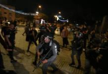 Israelischen Sicherheitskräfte reagieren auf die Ausschreitungen in Ost-Jerusalem am 24. April 2021. Foto IMAGO / Xinhua