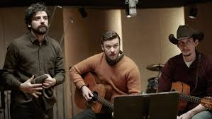 Isaac, Timberlake, and Driver jam session.