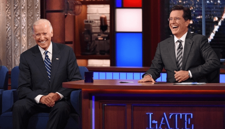 Stephen Colbert's Late Show Brings His Trademark Absurdity