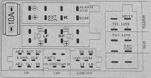 Audi a3 symphony 2 headunit change, amplifier remote wire