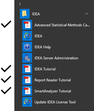 IDEA Folder Showing Tutorials