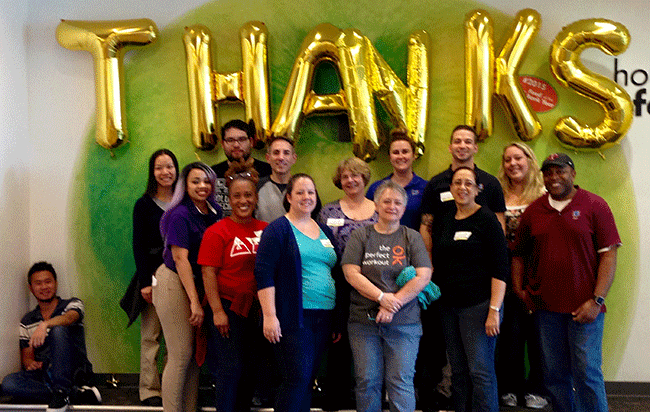 Audimation Services' Team at Houston Food Bank for Volunteer Day
