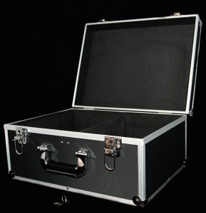 "Black 7"" 2-Lane Storage Case"