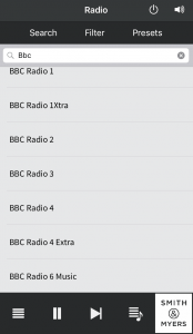 Searching the radio database for BBC