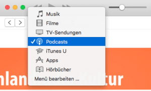 Podcasts in iTunes