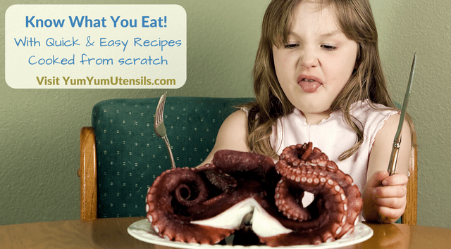 Be aware of what you are about to eat with quick and easy cooking from scratch recipes