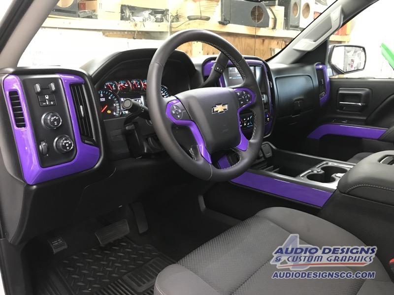 2017 Chevrolet Silverado Vinyl Wrap Car Stereo Audio