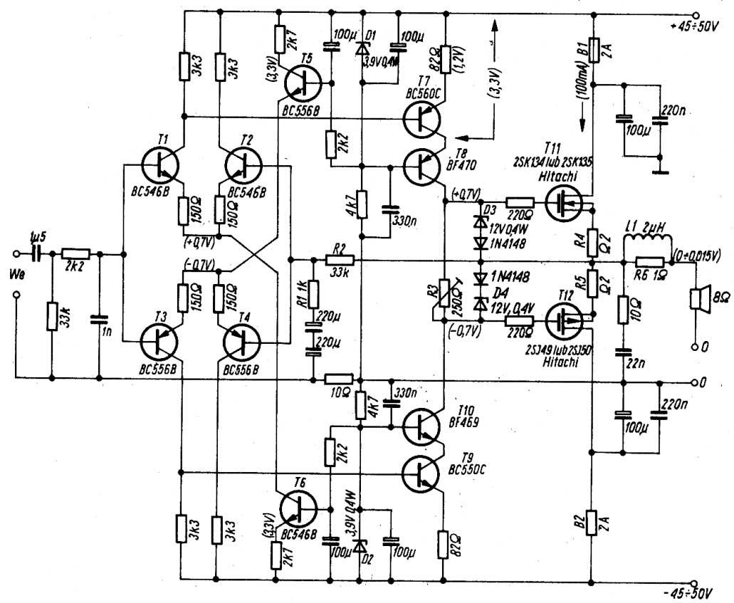 2sk135 2sj50 Amp Schematic