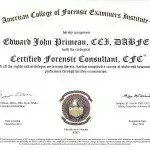 Certified Forensic Consultant-ACFEI