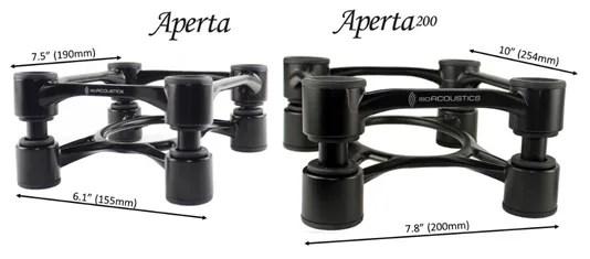 IsoAcoustics Aperta sizes