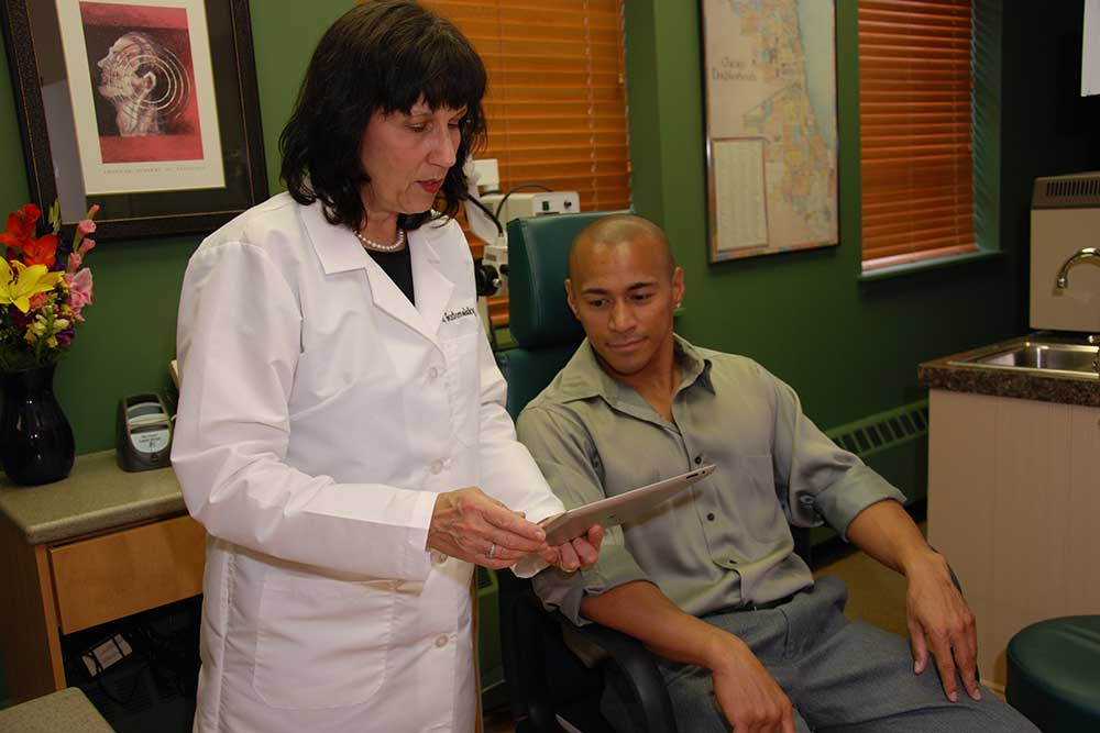 Dr. Sherri with a patient