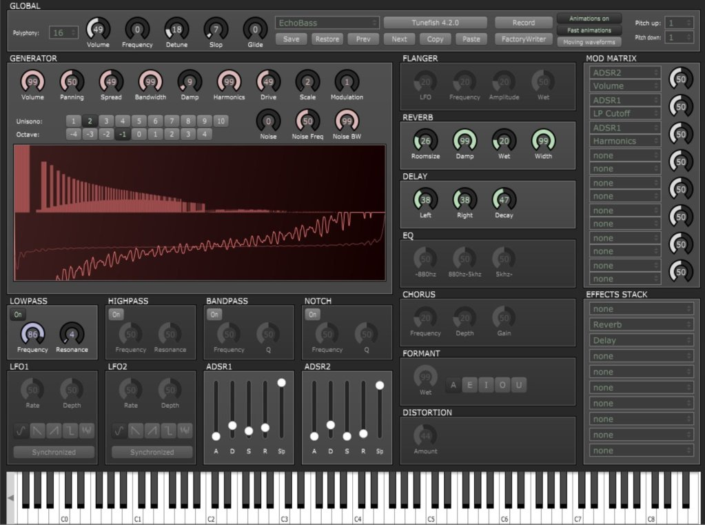 Tunefish 4 (Synth Additive, Synth Wavetable) • Audio Plugins for Free