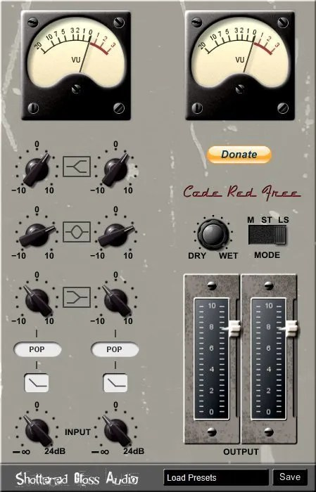 Code Red Free (Equalizer, Tube console emulation) • Audio Plugins