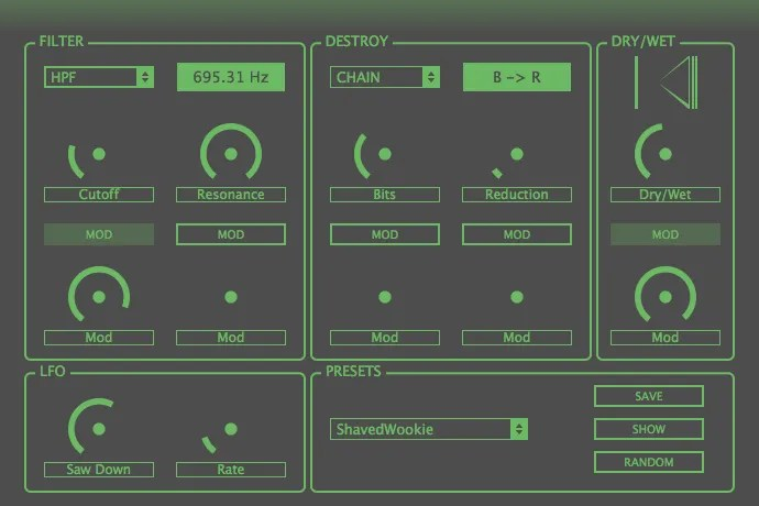 SicknDstroy (Bit Crusher, Lo Fi) • Audio Plugins for Free