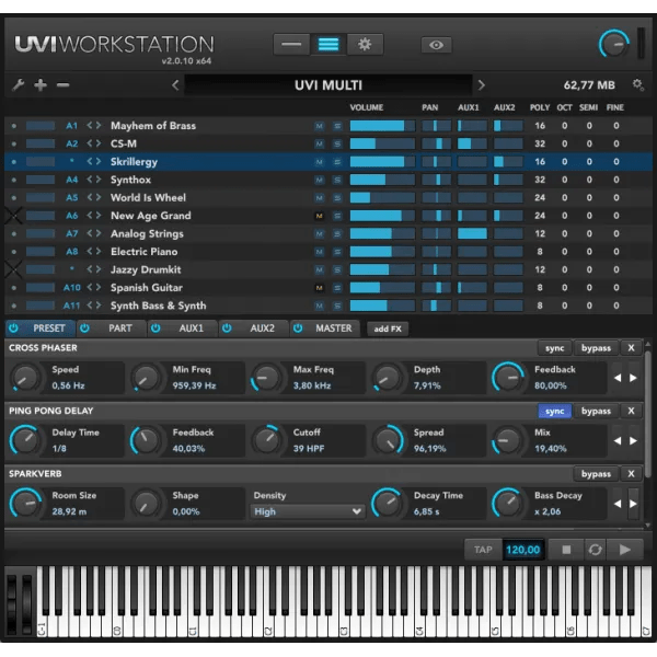 UVI Workstation (Sound Module) • Audio Plugins for Free
