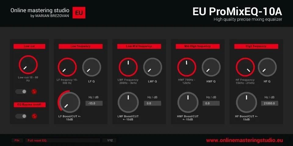EU ProMixEQ-10A | Audio Plugins for Free