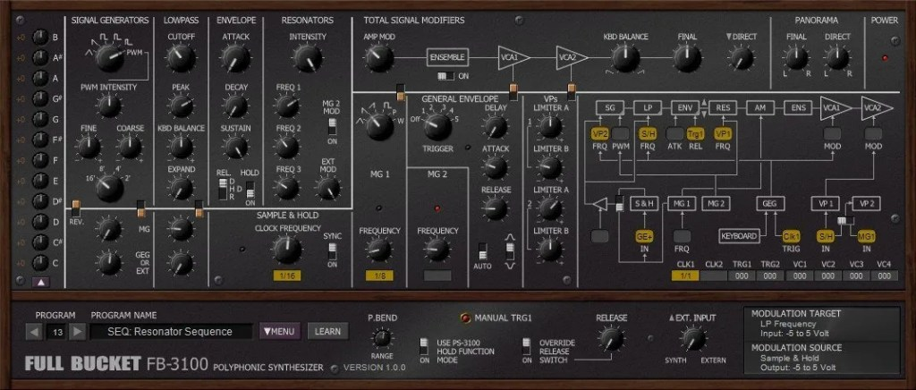 FB-3100 (Synth Analogue/Subtractive) • Audio Plugins for Free