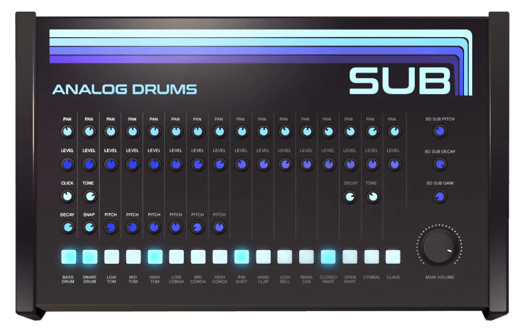 Sub Analog drums | Audio Plugins for Free