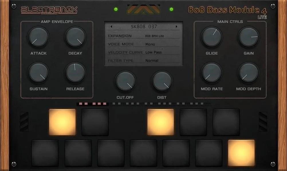 808 Bass Module 4 Lite   Audio plugins for free
