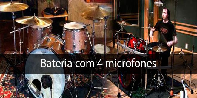 Gravando bateria com 4 Microfones 11