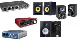 interface de áudio e monitoração