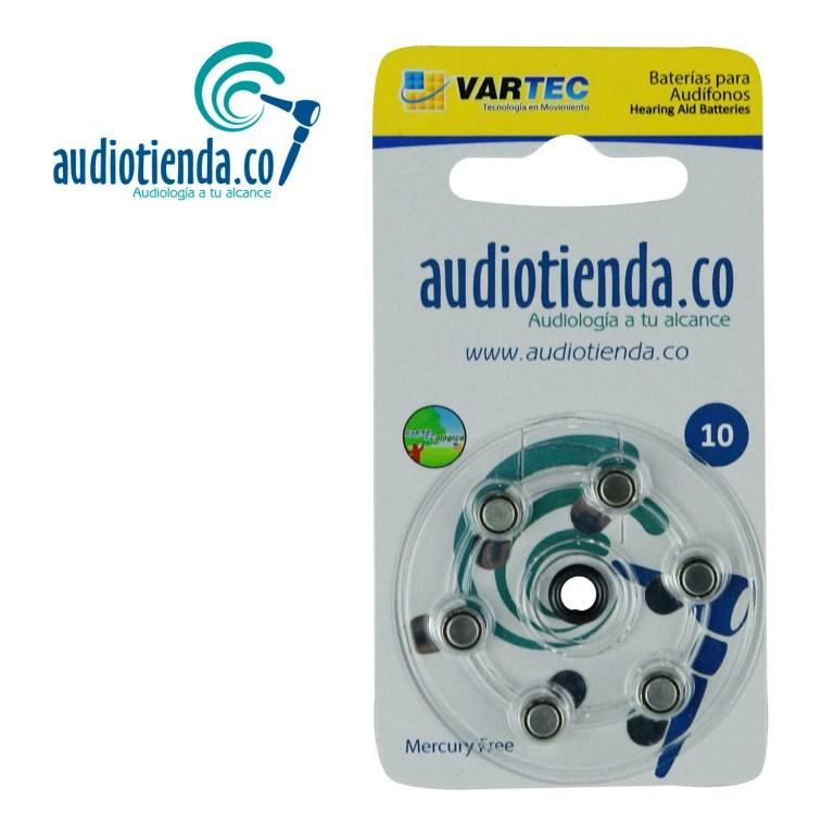 Pilas para audifonos Vartec audiotienda 10Pilas para audífonos