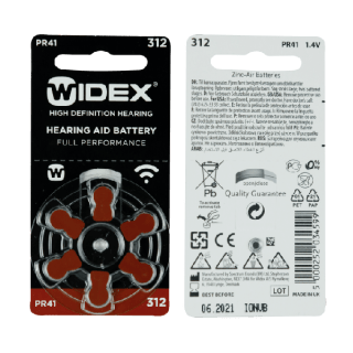 Pilas para audifonos widex 312